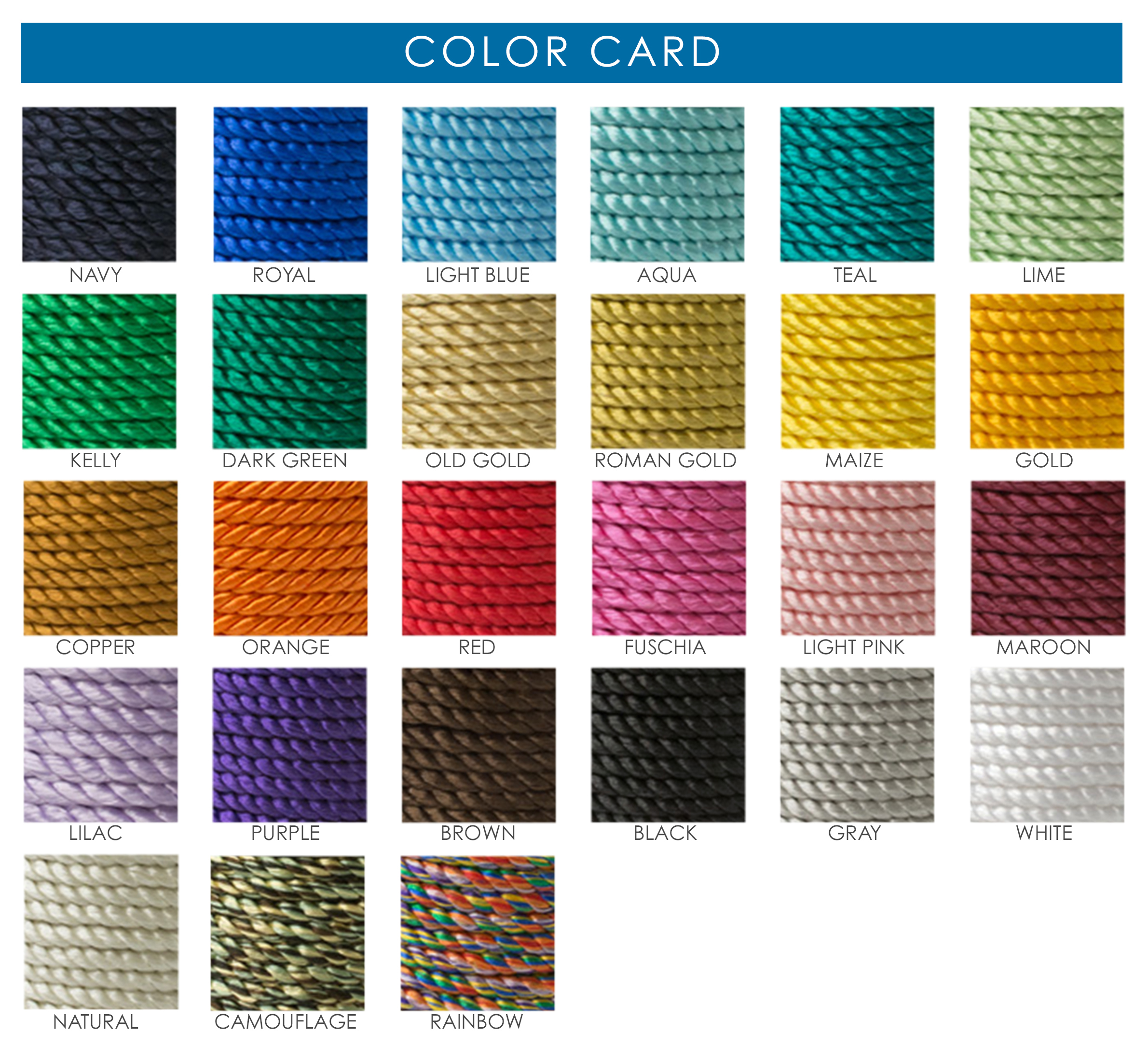 Colors That Match Turquoise Choose The Right Color With Our Color Card Tassel Depot