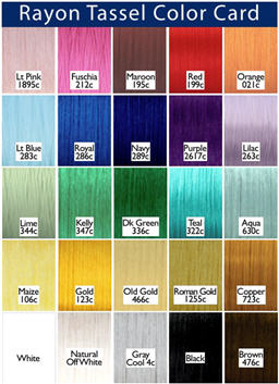 Rayon Color Card