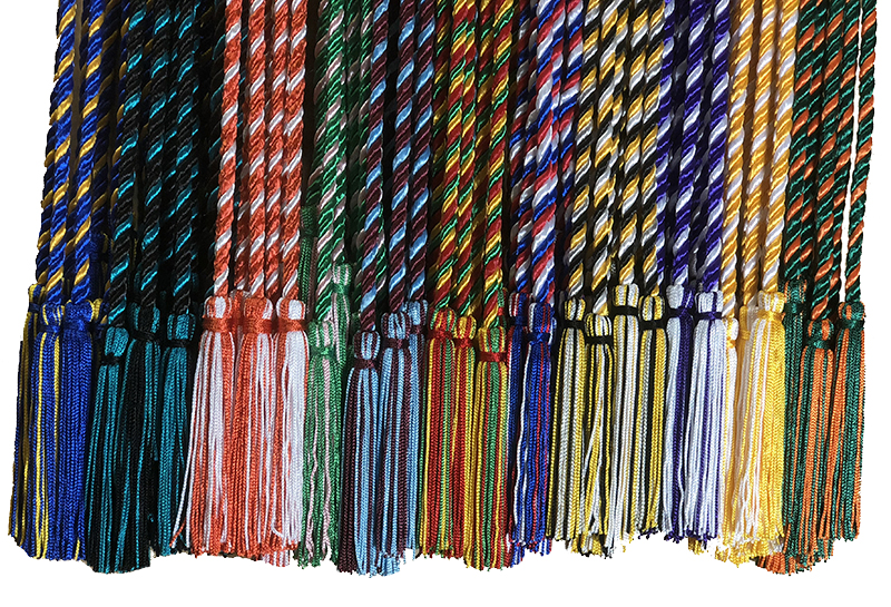 By Tassel Depot WHITE Honor Cord Every School Color Available Made in USA