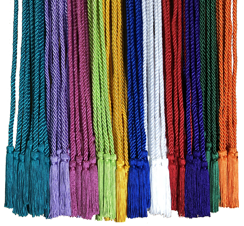 Honor Cord LT BLUE Made in USA Every School Color Available By Tassel Depot