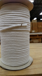 WHITE COTTON HERRINGBONE WEAVE PRES BRAID #33