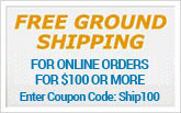 Free shipping on orders over a $100