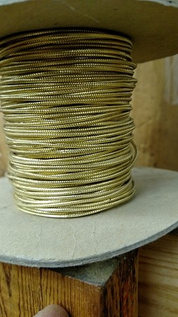 "1/16"" COVERED WIRE MET GOLD BRAID # 73,75"